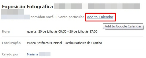 how to add facebook events to printable calendar