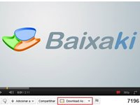Bot�o de download na interface do YouTube