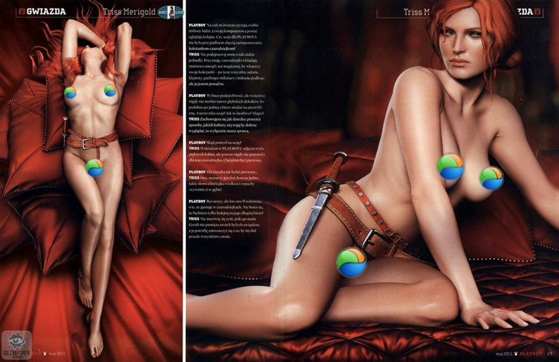 Playboy polonesa traz personagem de Witcher na capa