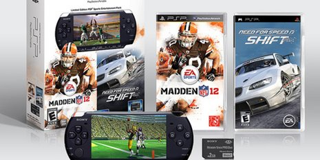 Imagem de Need for Speed SHIFT e NFL 12 em bundle do PSP no site Baixaki Jogos