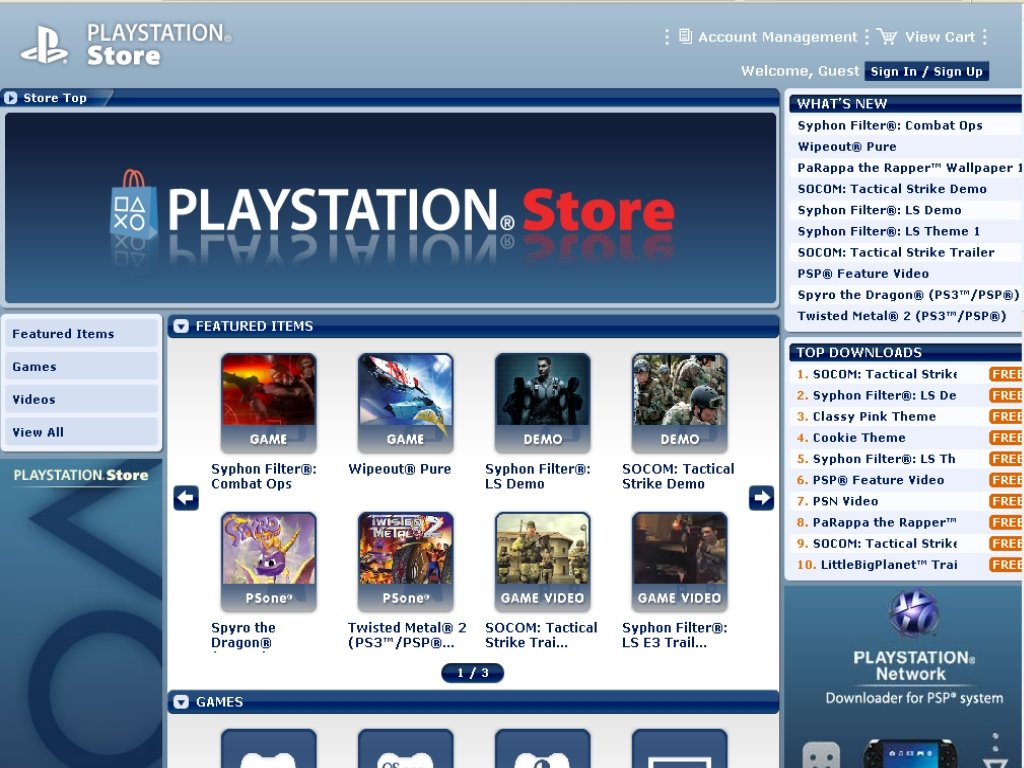 PLAYSTATION Store no PC