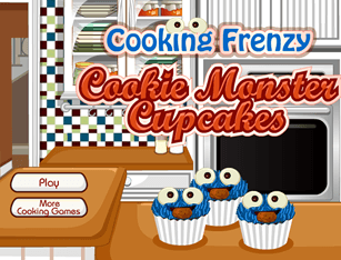 Cooking Frenzy – Cookie Monster Cupcakes