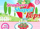 Strawberry Shaped Pops