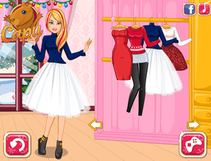 Winter Shopping With Barbie
