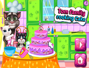 Tom Family Cooking Cake