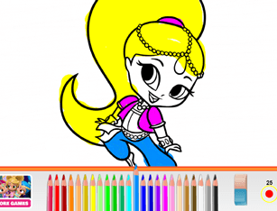 Cute Little Princess Coloring Book