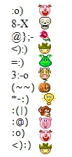 E mais emoticons no Yahho! Messenger.