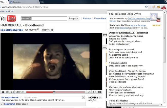 YouTube Music Video Lyrics