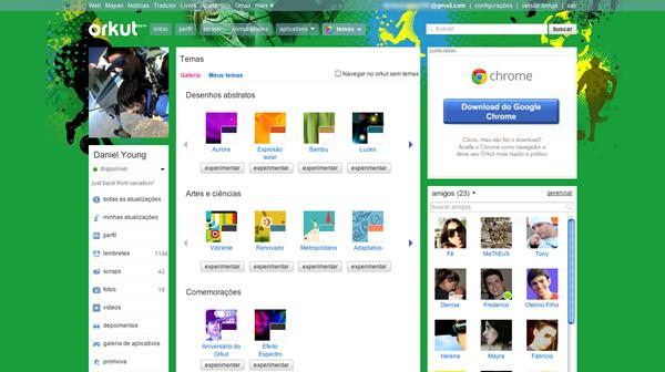 Tema de futebol do Orkut