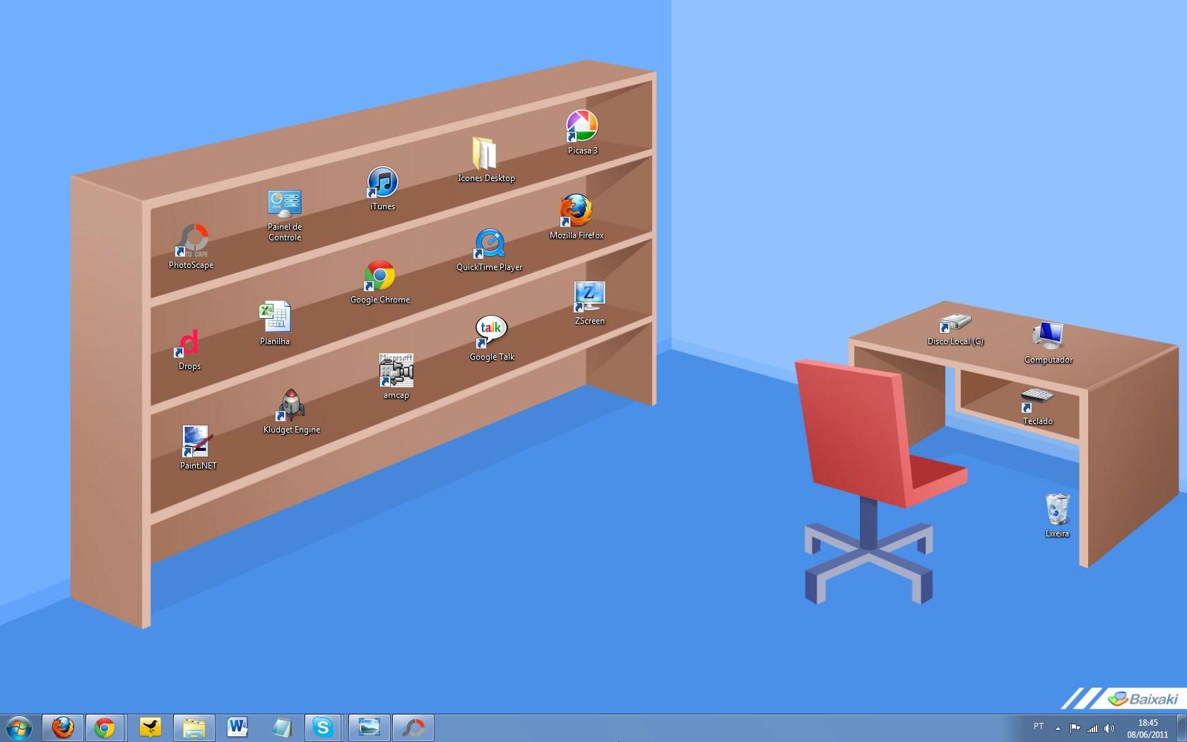 Deixe A Sua Rea De Trabalho Mais Linda E Organizada Com A Estante  -> Papel De Parede Para Sala De Trabalho