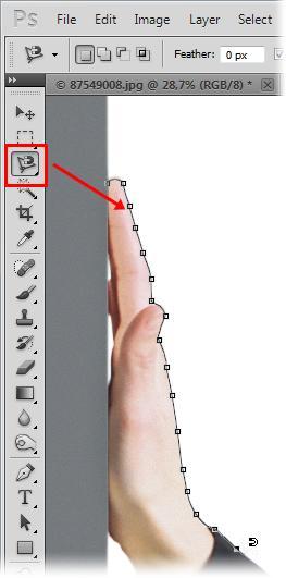 9fe60f224ff Você pode utilizar a ferramenta de laço magnético (Fonte da imagem Baixaki)