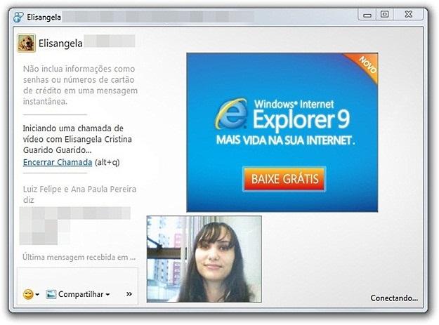 Inicializando a chamada de vídeo no Messenger