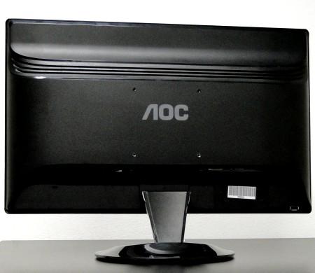 Visão da parte traseira do monitor