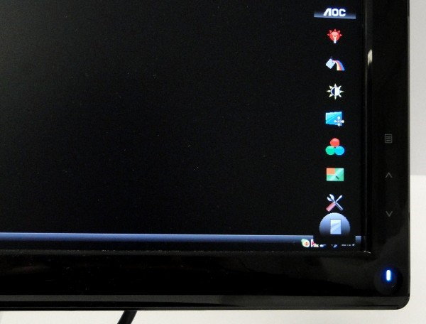 Menu principal do monitor