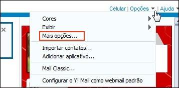 Opções de configuração do Yahoo! Mail