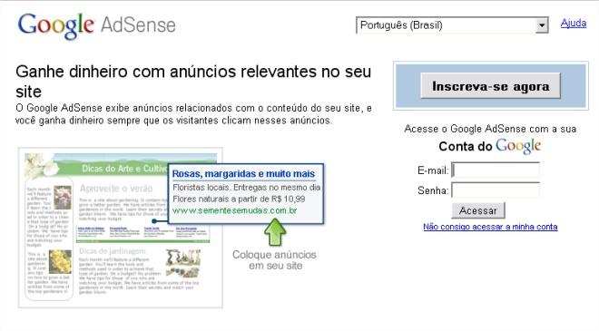 Com o AdSense blogueiros e donos de sites podem gerar receita em conjuto com o Google!