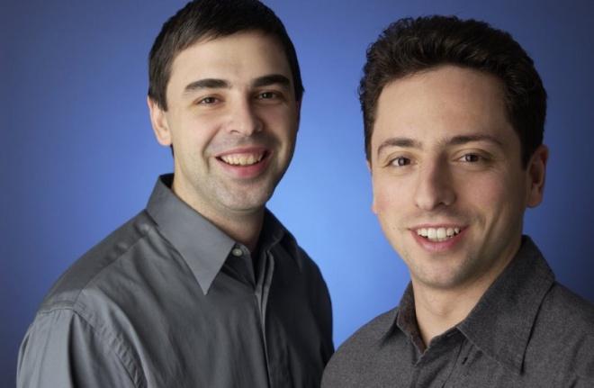 Larry Page e Sergey Brin são os co-fundadores da gigante da Internet.