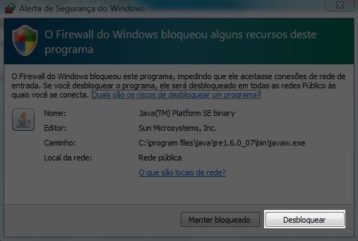 Não permita que o firewall do Windows bloqueie o MP3Rocket.
