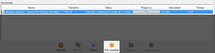 Acompanhe o progresso do download.