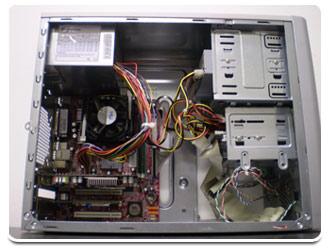 Computador com o gabinete aberto