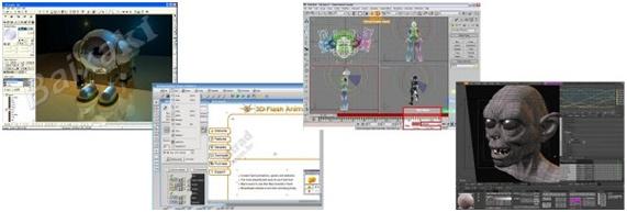 Panorama geral de programas 3D