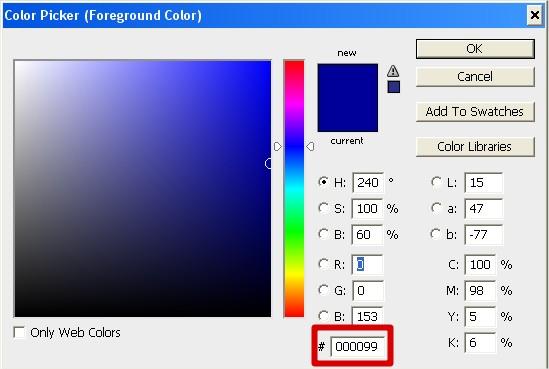 Altere a cor padrão de preto para azul!