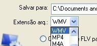 Salvando em WMV.