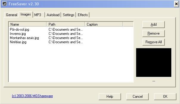 Adicione imagens e crie seu screensaver!