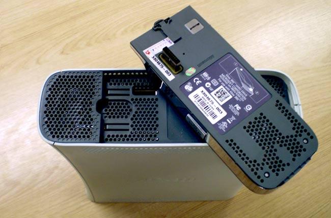 Foto de cima do console