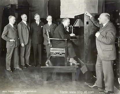 Uma das primeiras transmissões de TV