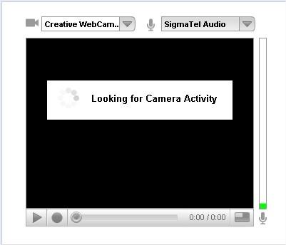 Clique no botão central e inicie a gravação!