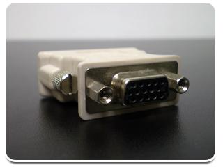 Adaptador VGA - DVI.