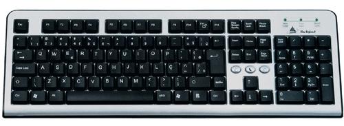 Exemplo de teclado QWERTY.
