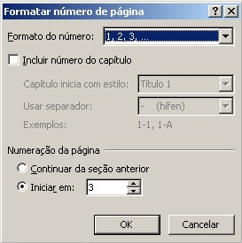 Edite as configurações.