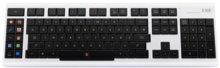 O Optimus Maximus Keyboard e suas teclas OLED.