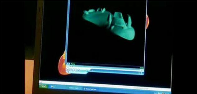 Imagem de protótipo de palmilha retirada do Beyond Tomorrow