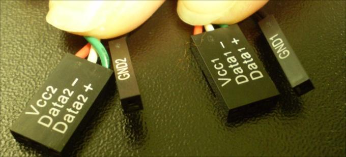 Fios de duas entradas USB frontais