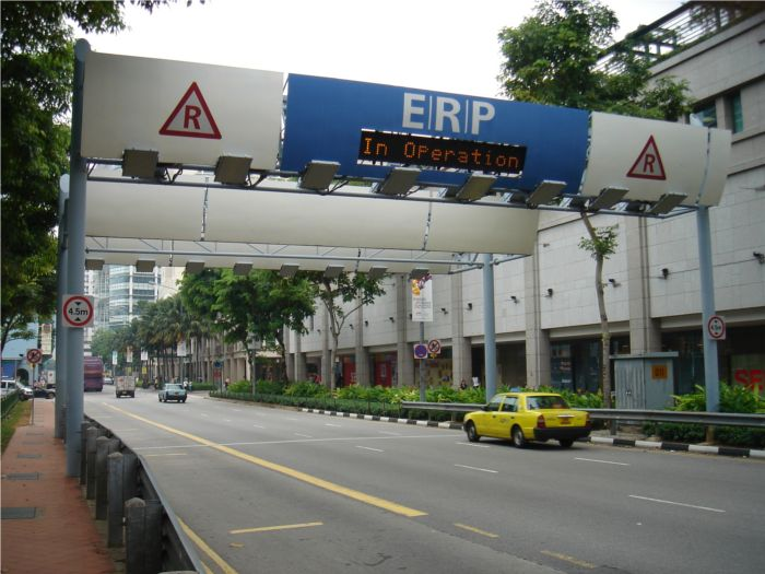 Em Cingapura o pagamento de pedágio via RFID já existe (clique para ampliar)