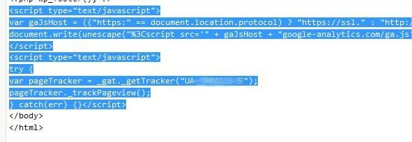 Coloque o código de acompanhamento imediatamente antes da tag </body>.