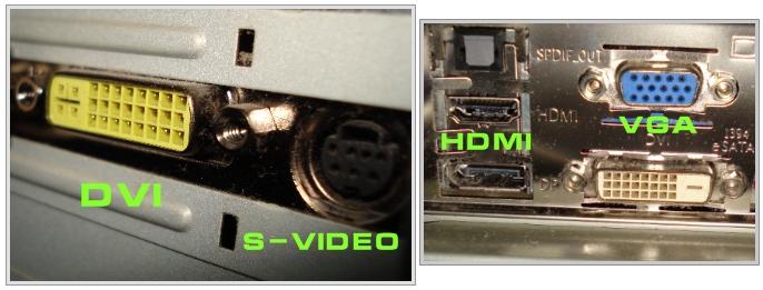 Os vários tipos de saída de imagem.