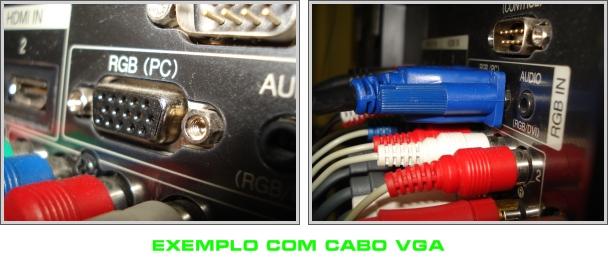 Exemplo de conexão VGA.