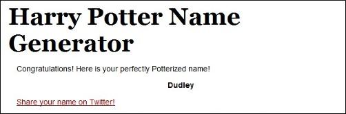 Nome de Harry Potter (clique para acessar)