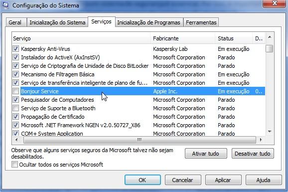 Configure seu sistema pelo msconfig.