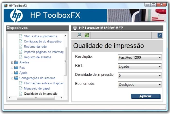 Use o software da HP e controle tudo pelo PC