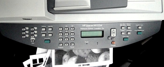 Painel e teclado da HP LaserJet M1522nf