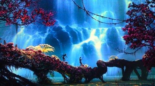 Parte da floresta biofluorescente de Pandora. Foto: Divulgação/20th Century Fox.