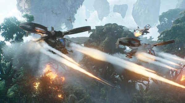 Cena de batalha em Avatar. Foto: Divulgação / 20th Century Fox.