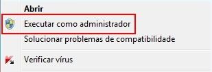 Executar como administrador no modo manual
