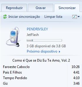 Sincronizando com o MP3