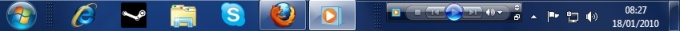 Facilite a reprodução de músicas e a troca de faixas com a miniatura do Media Player.